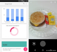 Snap and Eat app screenshot