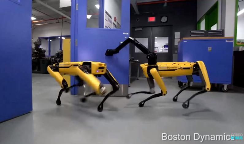 New SpotMini robot dog opening a door
